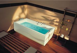 Itaka Bath from Victory Spa with Chromatherpay (coloured light).  http://www.ukhomeideas.co.uk/ideas/bathroom/bathtubs/itaka-bath-from-victory-spa/
