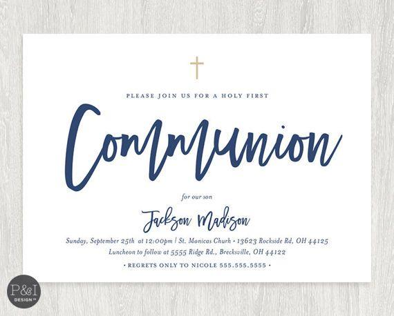 first communion invitation boy or girl communion invitations diy