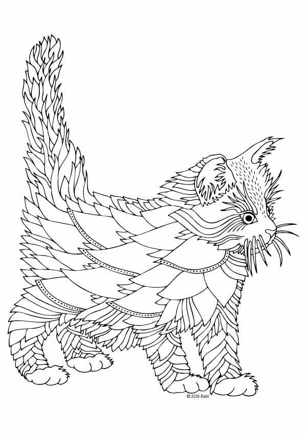 Kittens and Butterflies: Coloring Book by Katerina Svozilova…
