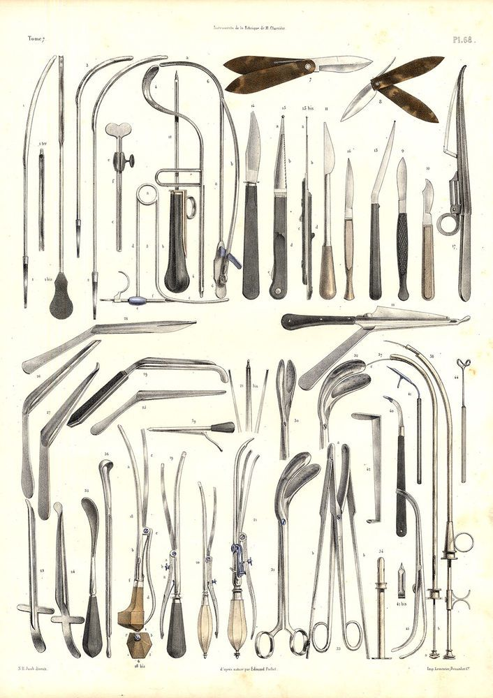 Particulars about Vintage Medical Anatomy Print-LITHOTOMY-SURGICAL INSTRUMENTS-Pl 65-Bourgery-1831 4e1a7f8f1e7026d3bdc53a119c43d6d4  antique illustration medical illustration