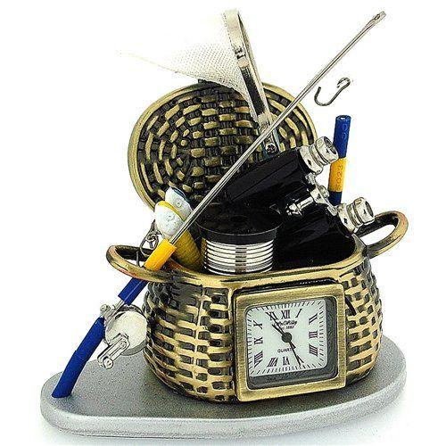 Miniature Fishing Tool Set Novelty Quartz Movement Collector Clock 9995