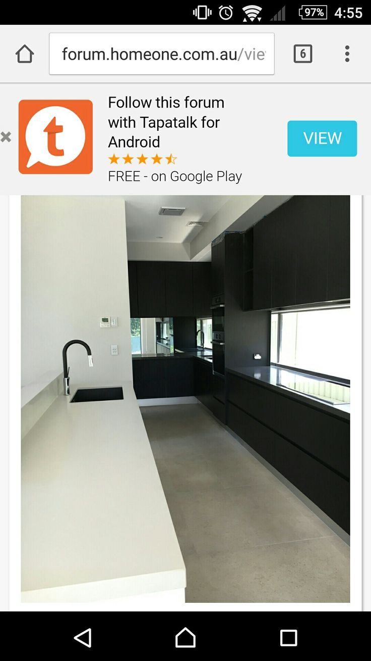 I like the matte black kitchen cabinets and the tapware
