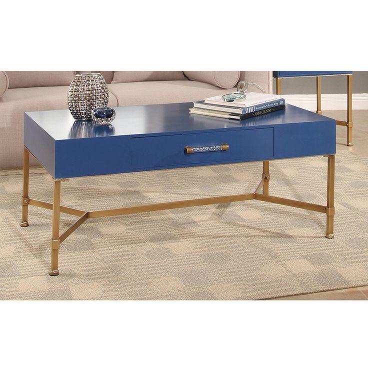Abbyson Julianne Iron Coffee Table - MD-P16550V3-BLU