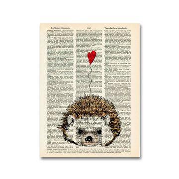 I Love You Hedgehog Print  by Matt Dinniman