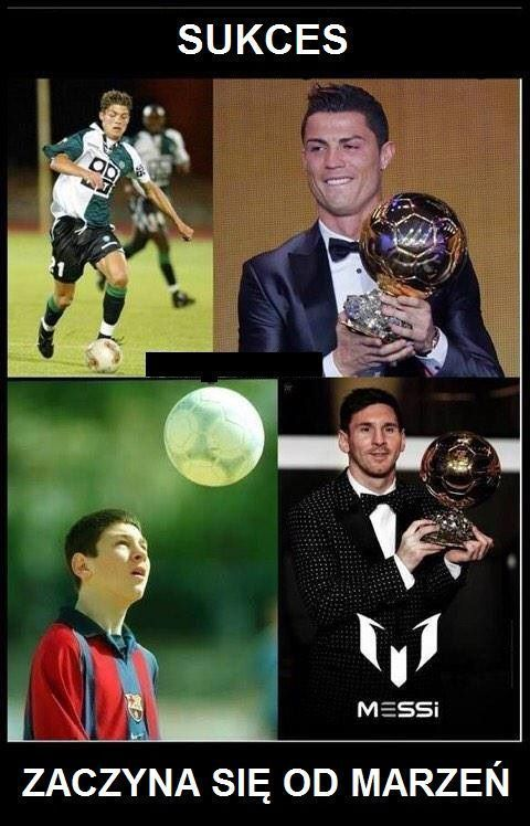 Cristiano Ronaldo i Lionel Messi kiedyś też marzyli o sukcesie • Sukces w piłce nożnej zaczyna się od marzeń • Wejdź i zobacz >>