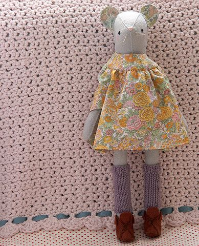 Miss Phyllis Mouse Softie Kit