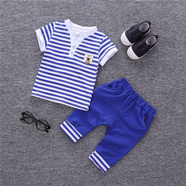 Boys Clothing <b>Sets Summer</b> Cotton Baby Suit <b>Kids 2pcs</b> T-shirt ...