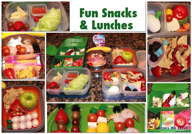 """Recipes We Love: Healthy Kids Lunches and Snacks - some great ideas (wrapping leftover roast chicken, veggies in a lettuce leaf instead making a bread based """"sandwich"""")"""