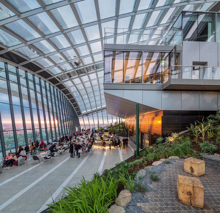 The Sky Garden - Interior of the Sky Garden located on the top floor of 20 Fenchurch Street, London, UK. The building was designed by Rafael Vinoly. Jonathan Reid |