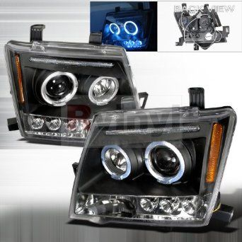 Nissan Xterra 2005 2006 2007 2008 2009 2010 LED Halo Projector Headlights - Black : Amazon.com : Automotive