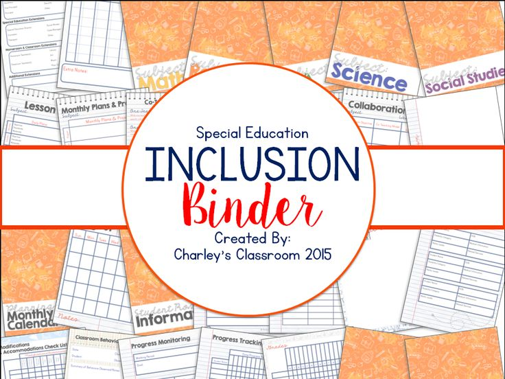 Inclusion Teaching/Special Education - Co-teaching has so many perks! I LOVE seeing my students achieve their goals, while in the regular classroom setting. However, there's stress of not being in my classroom and not having everything I needed at my reach. I have created a binder that has saved me from running from the inclusion classroom to my classroom about 5 times a day. This has also played a tremendous part in regular education teacher/special education teacher collaboration.