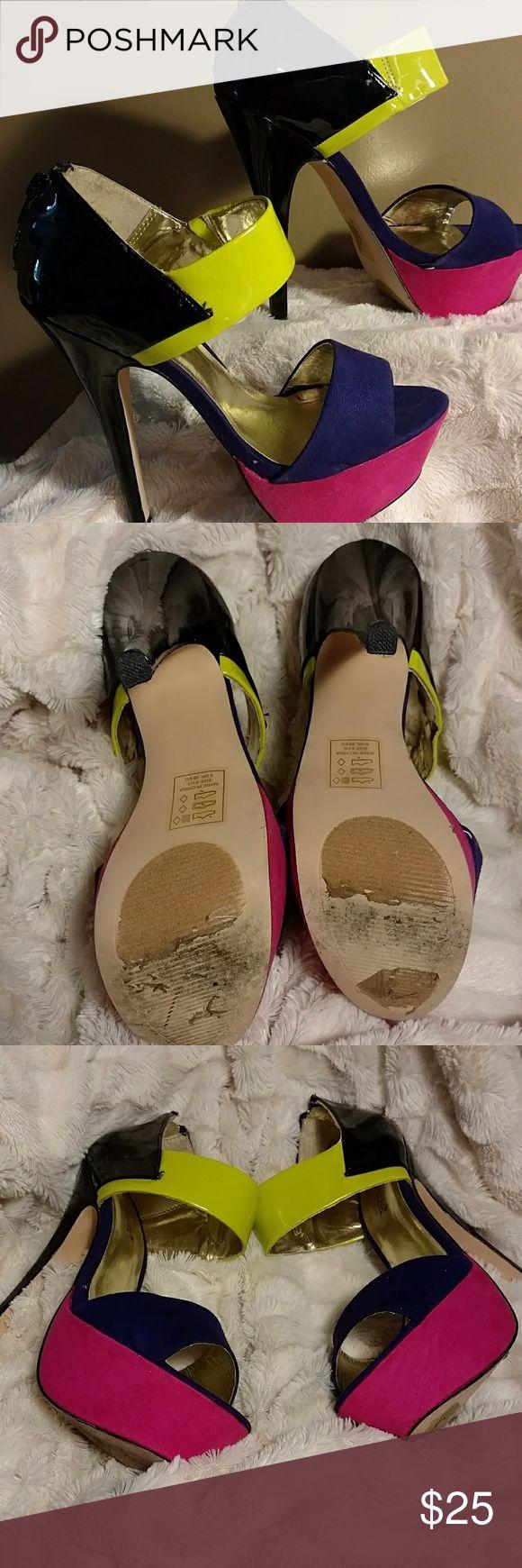 Women high heels Sexy multi color high heel shoe ShoeDazzle Shoes Heels