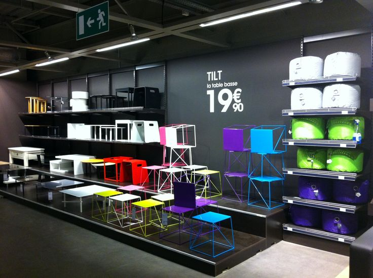agencement podiums FLY, mobilier décoration   Groupe Lindera
