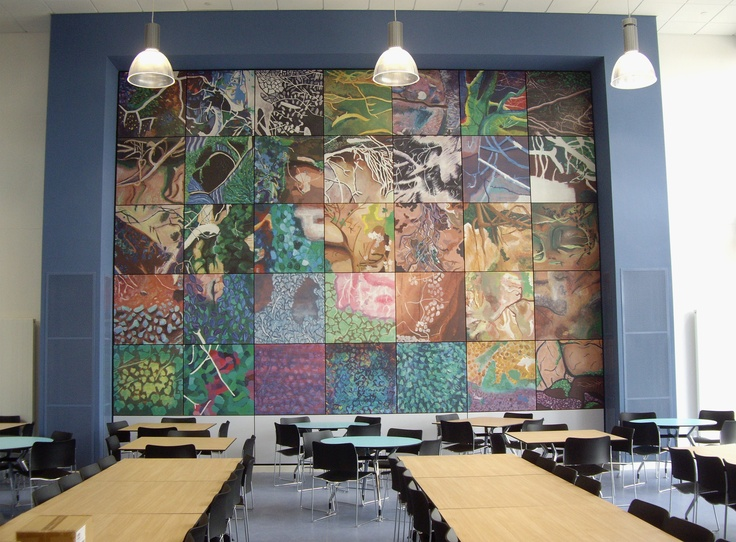 Writhlington Advanced Learning - dining wall - digital print