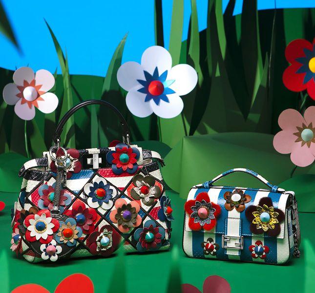 Цветущие весенние сумки Fendi Flowerland | Мода | Новости | VOGUE