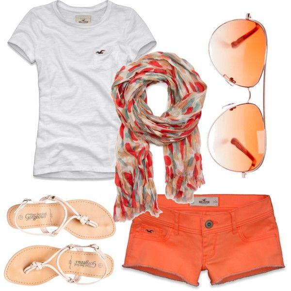 Cute summer outfit...with longer shorts, of course!