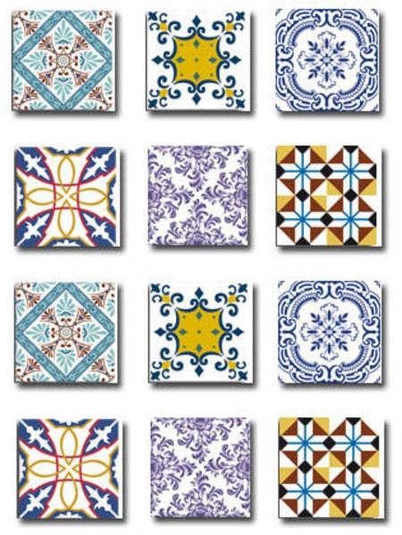 Adesivos imitando azulejo português