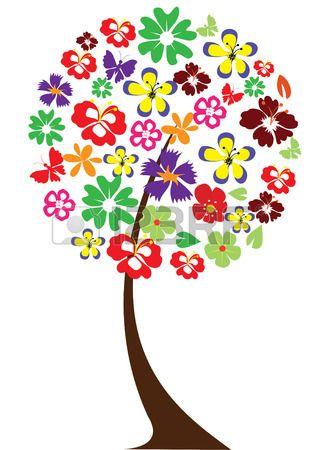 árbol floral Foto de archivo