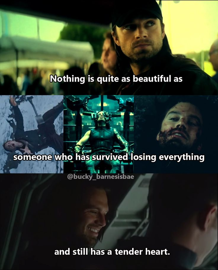 Bucky is beautiful because he has survived hells I can't even imagine and still has a kind, gentle, and selfless heart.