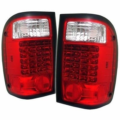NEWMAR MOUNTAIN AIRE 2000 2001 PAIR RED CLEAR LED TAIL LIGHTS TAILLIGHTS LAMP RV