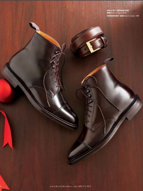 Peal & Co Cordovan Boot and Cordovan Belt