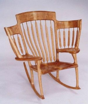I am willing myself to a multiple birth. Genius! Rocking chair for twins!!
