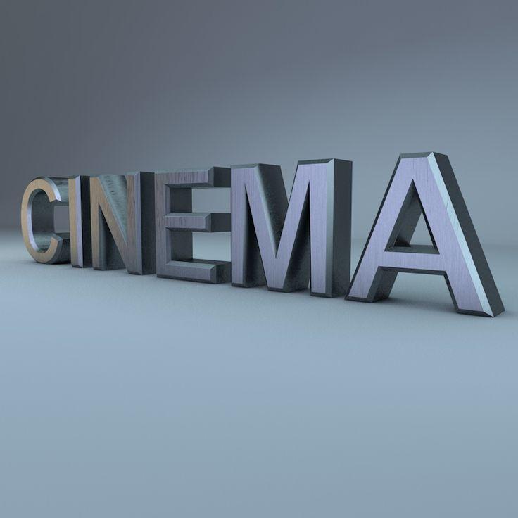 metal font 3d model