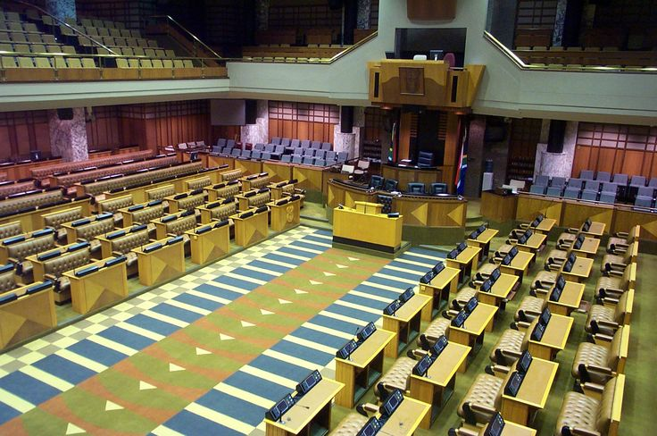 Government: The South African legislature has two houses. There is a ninety member National Council of Provences and a four- hundred seat National Assembly.