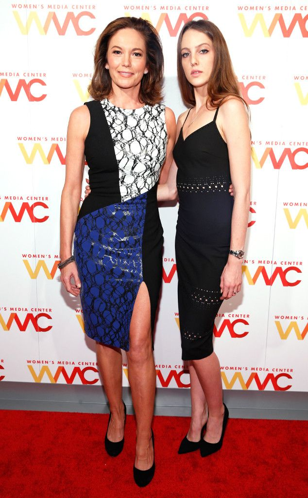 Diane Lane & Eleanor Lambert from The Big Picture: Today's Hot Pics  The mother-daughter duo arrive on the red carpet at the 2015 Women's Media Awards in the Big Apple.