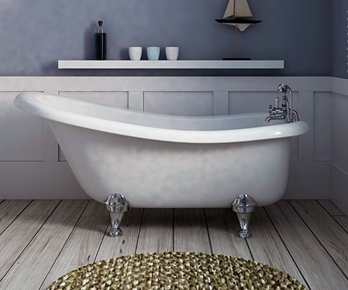 Slipper Freestanding Bath 1500 x 750mm - V40131055 scene  square medium NEED UNDER 162CM