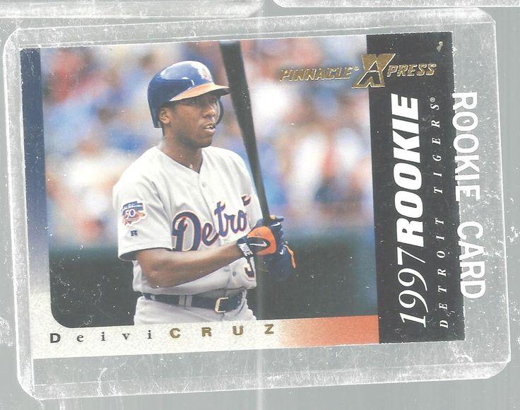 Deivi Cruz Rookie 136 Pinnacle Xpress 1997 Baseball Card Detroit Tigers #DetroitTigers