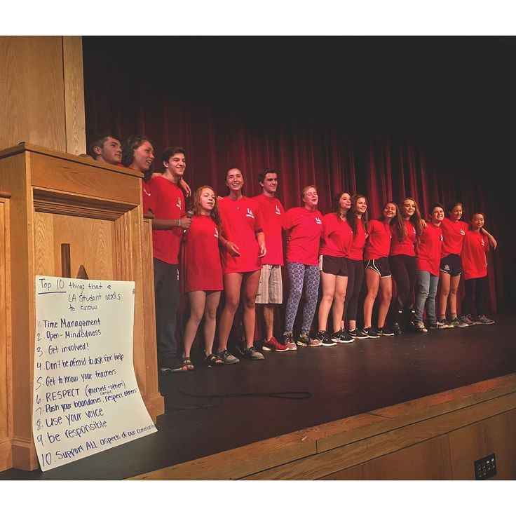 #TodayAtLA's #morning assembly, 10 things that a LA student needs to know courtesy of your peer counselors. #GrotonMA