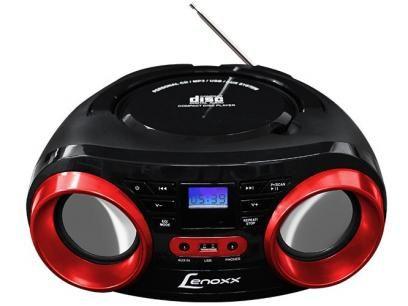 Rádio Portátil FM USB Boombox - Lenoxx com as melhores condições você encontra no Magazine Apscomputadores. Confira!