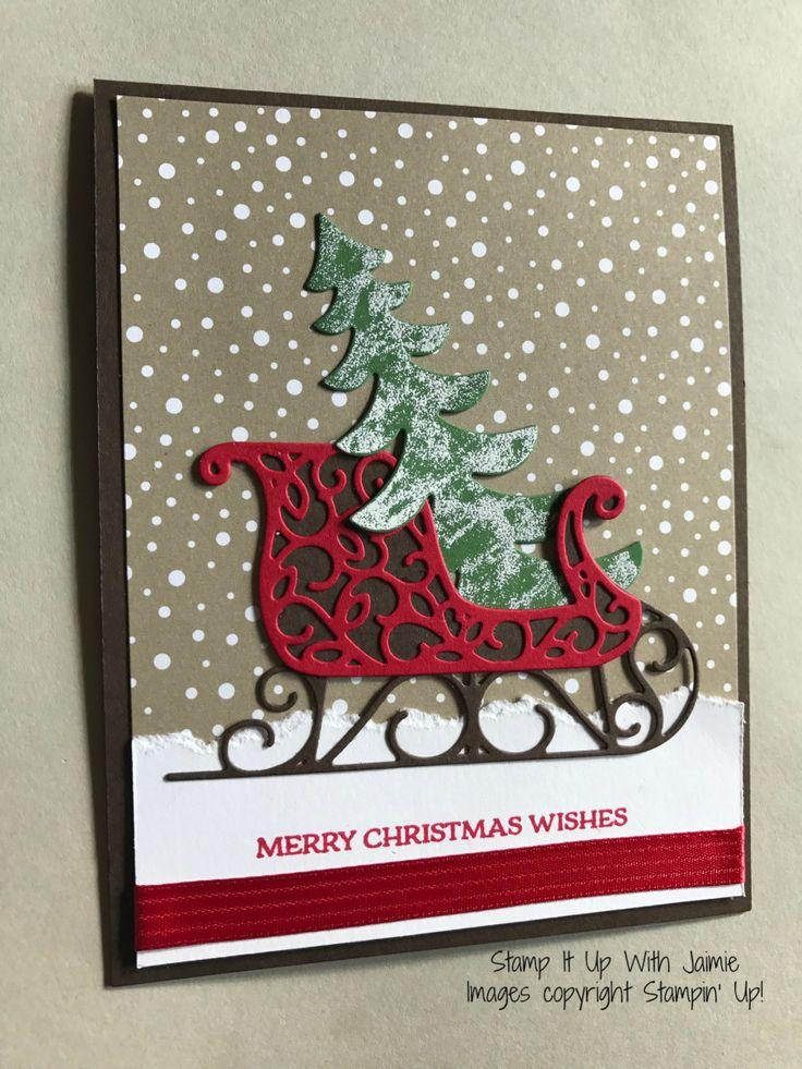 131 best santa 39 s sleigh thinlets images on pinterest for Elegant christmas card ideas