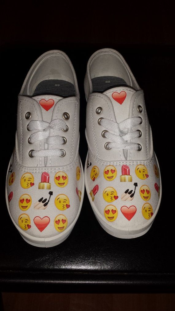 emoji shoes by Nadelra on Etsy