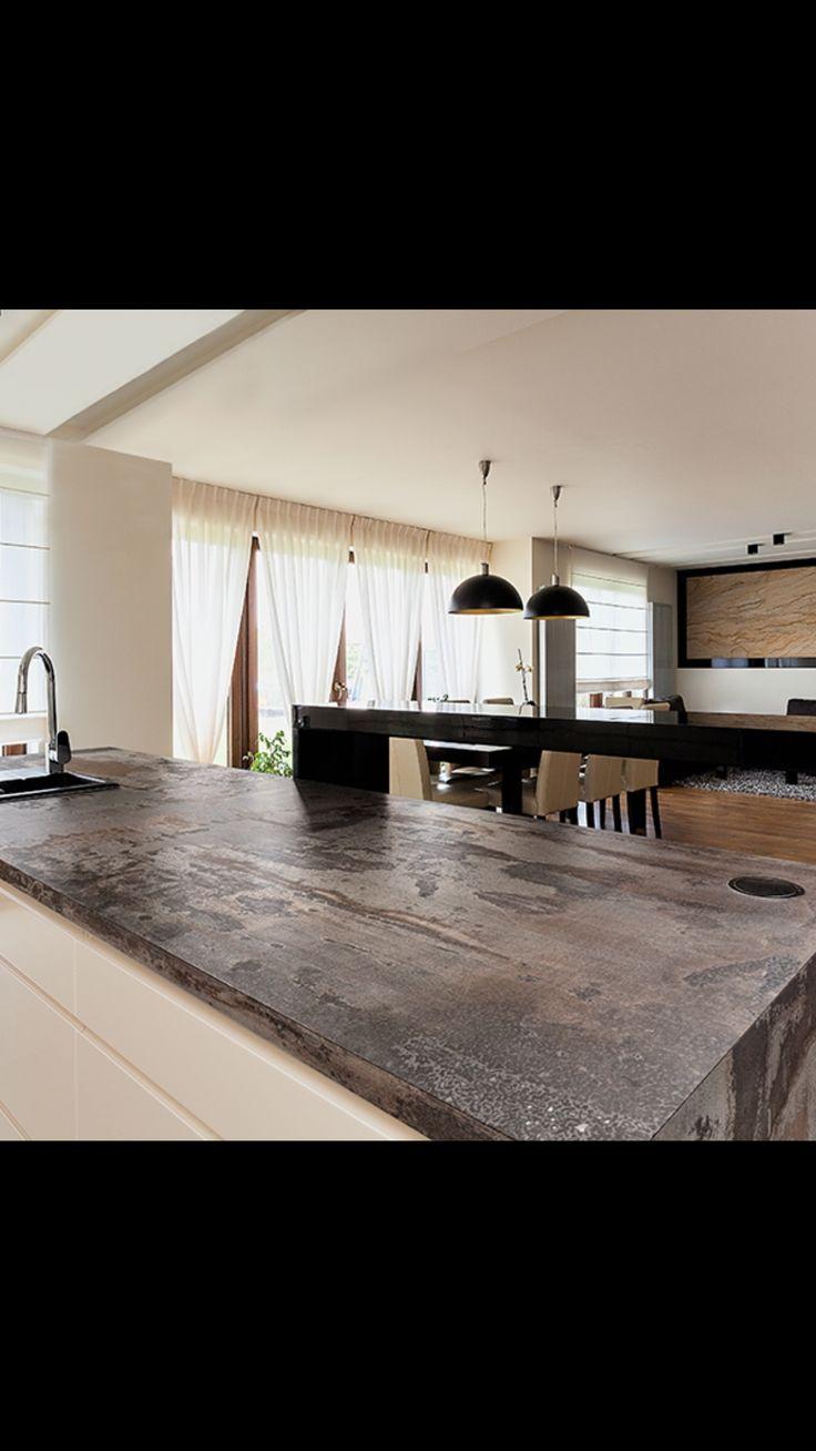 Dekton Trilium: granite composite but looks like metal and natural stone qualities also