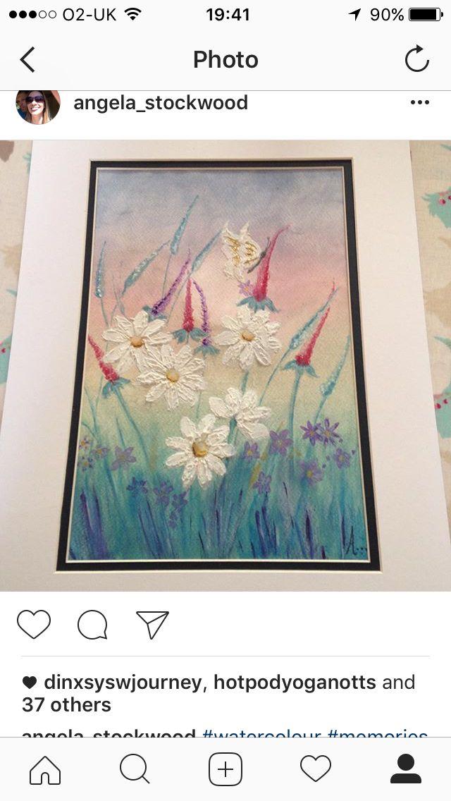Flowers and butterflies - original watercolour