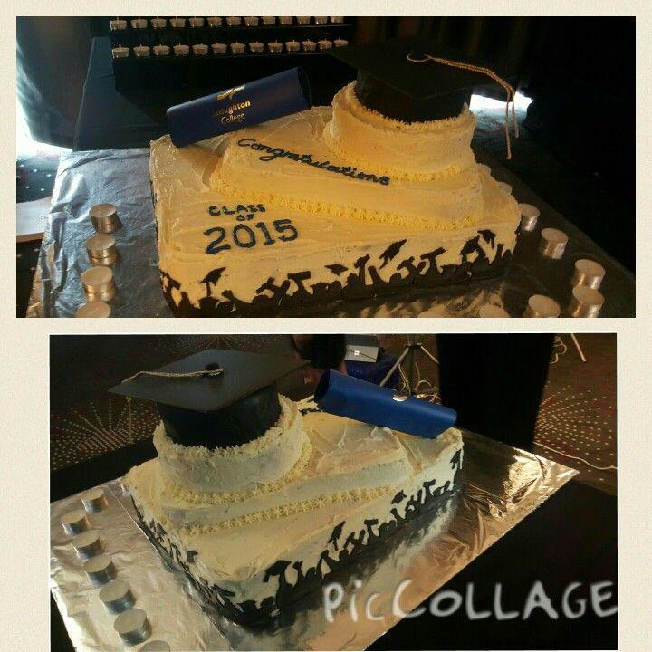 Year 12 Graduation Cake 2015:chocolate:ganache:frosting:silhouette