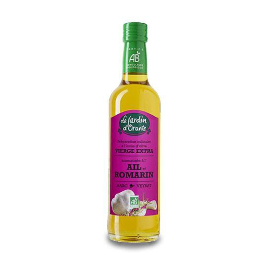 Huile d'olive Bio vierge extra saveur Ail et Romarin