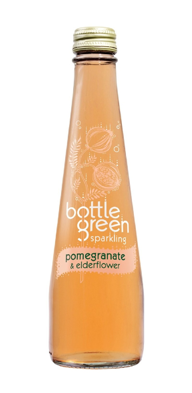 Favourite fizzy fruit drink - bottlegreen pomegranate & elderflower