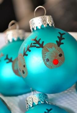 Reindeer thumbprint ornament - This adorable ornament isn't just a cute decoration but a perfect personalized gift to give to all your family and friends you see throughou...
