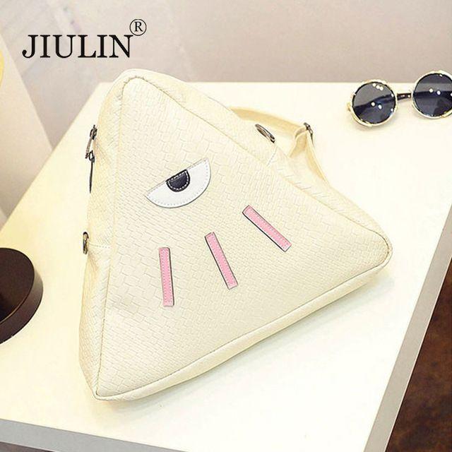 JIULIN 2016 nova Bolsa de Ombro Coreano Mochila moda sacos triangulares dual-purpose mochilas dos desenhos animados PU bolsa de viagem por atacado