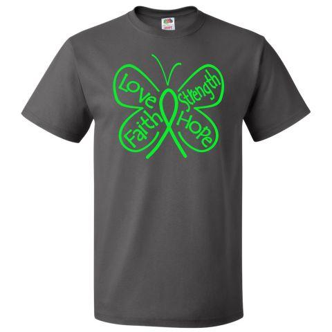 Non-Hodgkins Lymphoma Butterfly T-Shirt  #NonHodgkinsLymphoma #ButterflyRibbonShirts #NonHodgkinsLymphomaAwareness