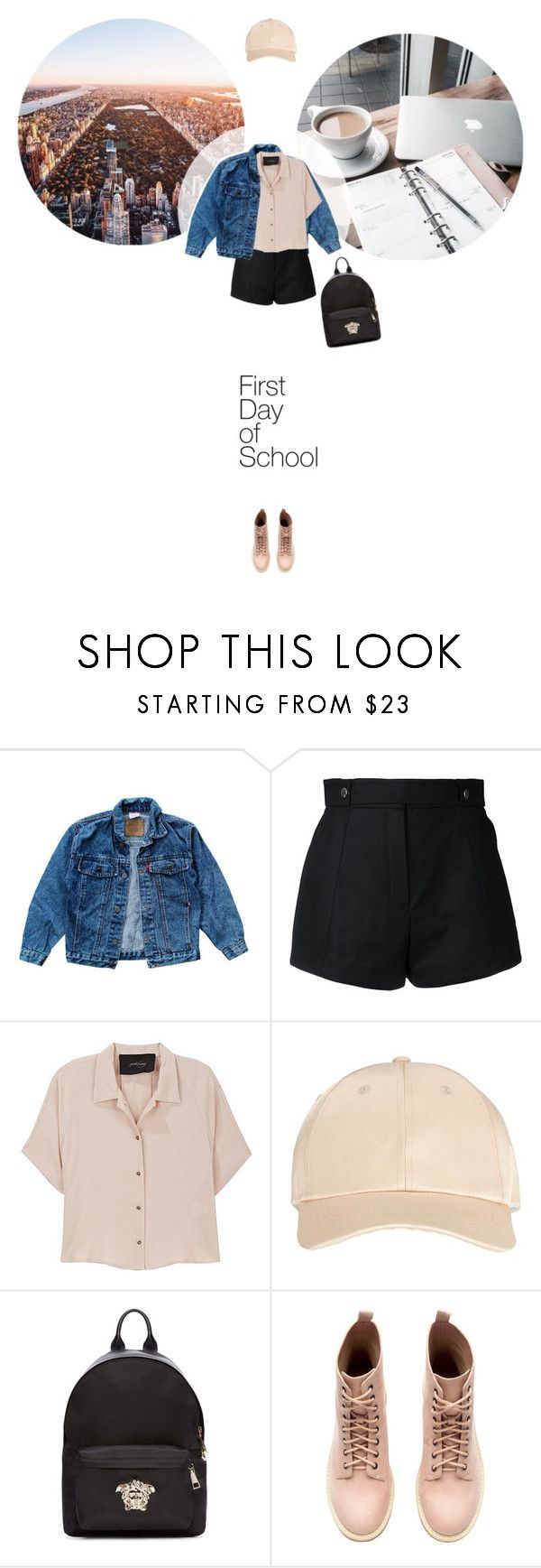 // 1304. Campus Chic: First Day of School. by lilymcenvy on Polyvore featuring Rachel Comey, Levi's, Courrèges, Versace, Miss Selfridge and BackToSchool
