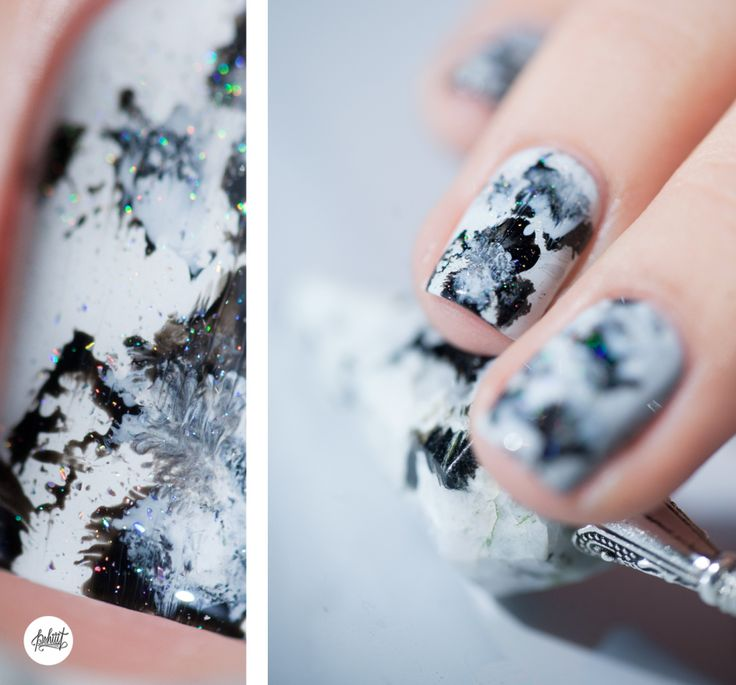 Nail art moon stone inspiration