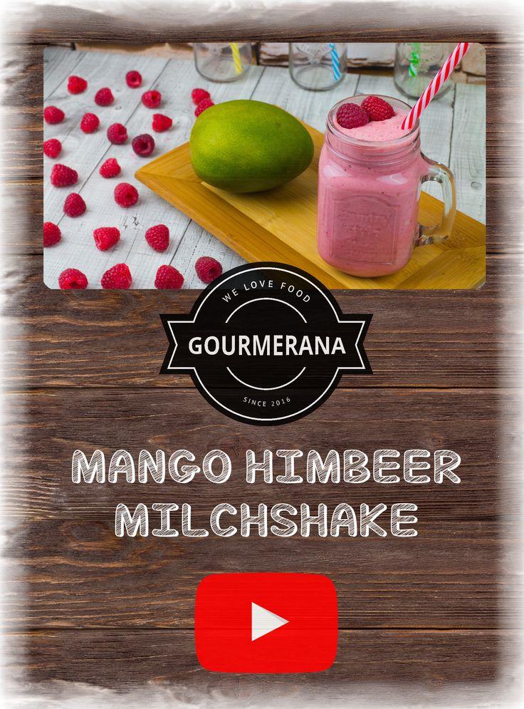 Ein leckerer fruchtiger Milchshake für zwischendurch. Schnell gemacht und einfach mega lecker :D  Das genaue Rezept mit Video Anleitung findest du wie immer auf meiner Website gourmerana.de :) #Rezept  #Rezepte #Kochen #StopMotion #Animation #Animationen #YouTube #Gourmerana #Gourmet #Rezepte #Drinks #Getränke #Shakes #Milchshake #frucht #Obst #Früchte #Mango #Himbeeren #Himbeere