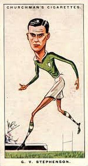 Churchman's Cigarette Card - Irish Rugby, G V  Stephenson