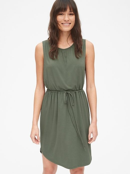 look out for on feet at get online Gap Women's Maternity Sleeveless Nursing Dress Tweed Green ...