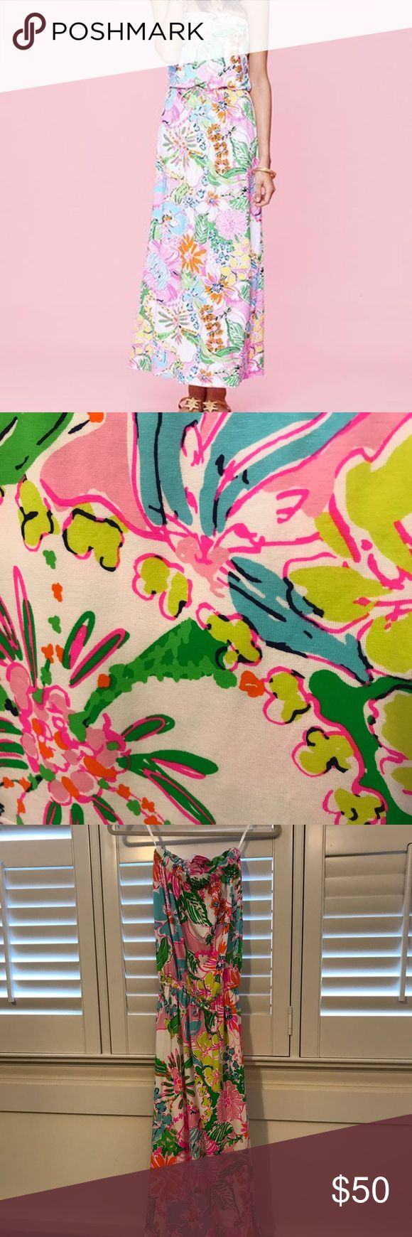 Lilly Pulitzer for Target Strapless Maxi Dress  XS Lilly Pulitzer for Target Strapless Maxi Dress  XS. I have never worn this dress; in perfect condition. Lilly Pulitzer for Target Dresses Maxi