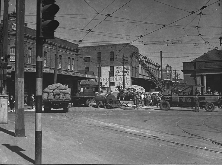 Abercrombie Street, Redfern, c.1935, photograph by Sam Hood. Find more information about this photograph: http://acms.sl.nsw.gov.au/item/itemDetailPaged.aspx?itemID=25748. From the collections of the Mitchell Library, State Library of New South Wales www.sl.nsw.gov.au...